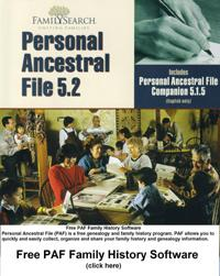 Download Free PAF Family History Software