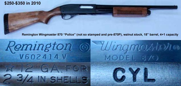 dating remington 870 by serial number Manufacture dates if you've enjoyed  remington dates of manufacture the following serial number information is for remingtion firearms manufactured after 1921.